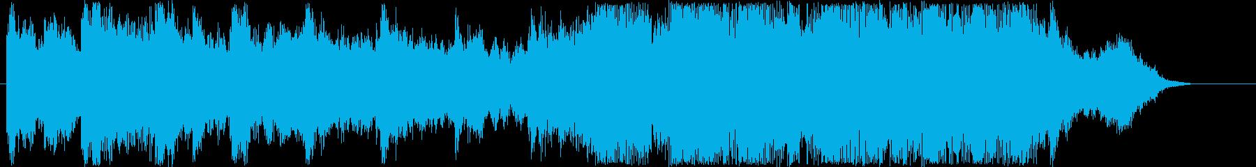 ファンタジーなシンセなどのサウンド短めの再生済みの波形