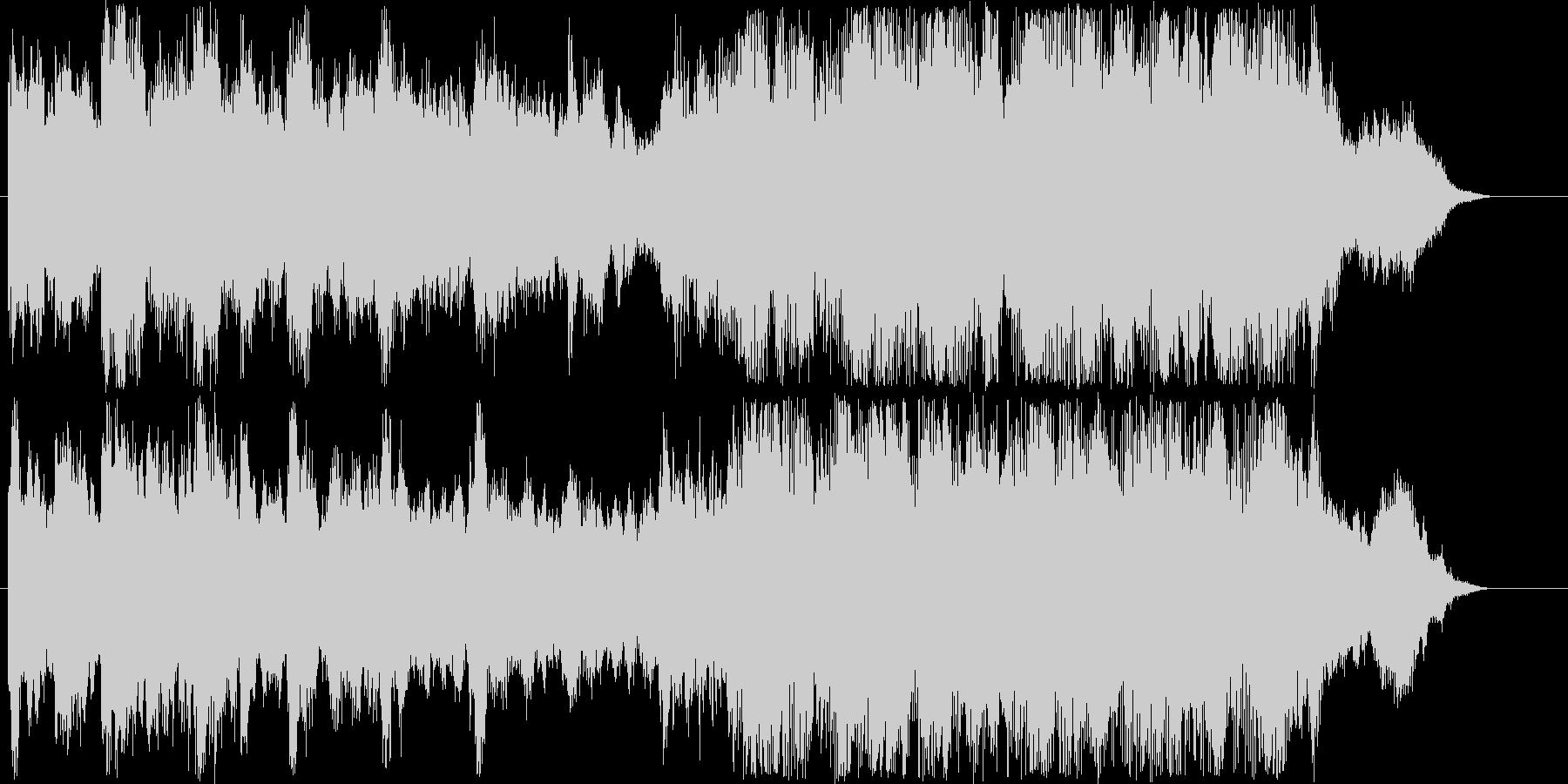 ファンタジーなシンセなどのサウンド短めの未再生の波形