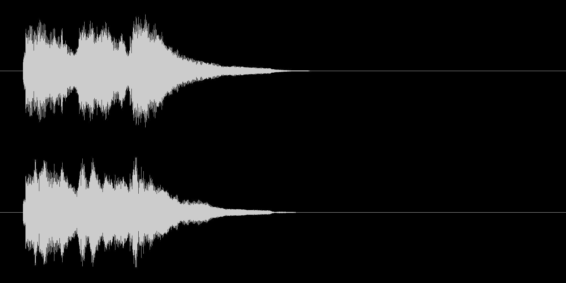 場面転換ジングルの未再生の波形