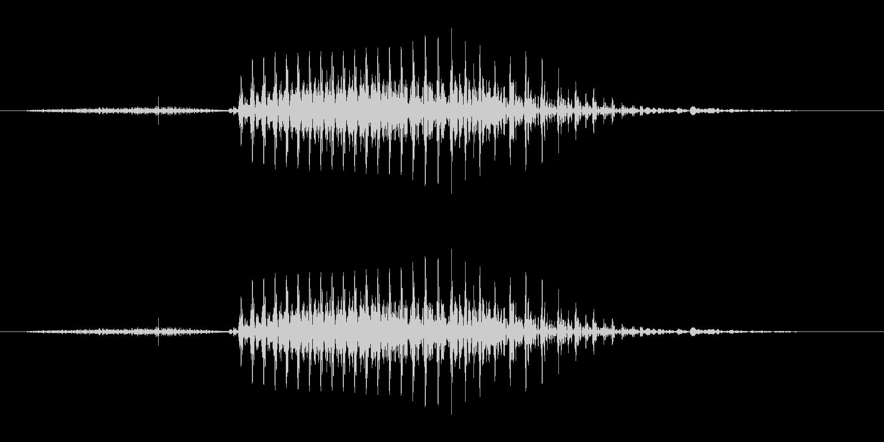 4  (four, 英語、米国男性声優…の未再生の波形