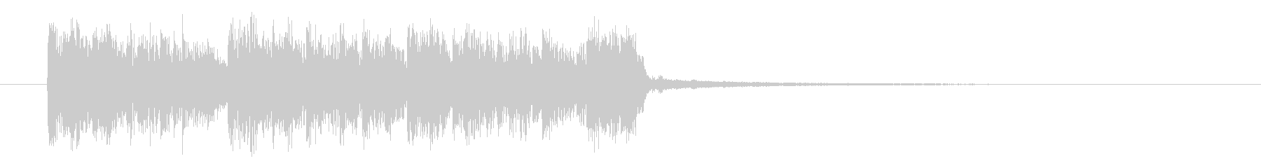 ロックでパンクなエレキジングルサウンドの未再生の波形
