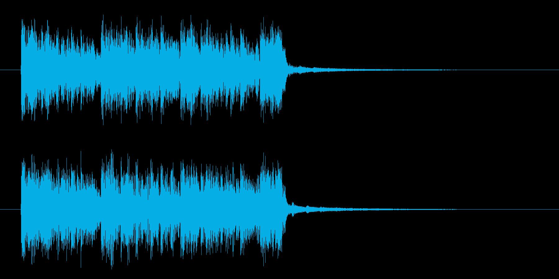 ロックでパンクなエレキジングルサウンドの再生済みの波形