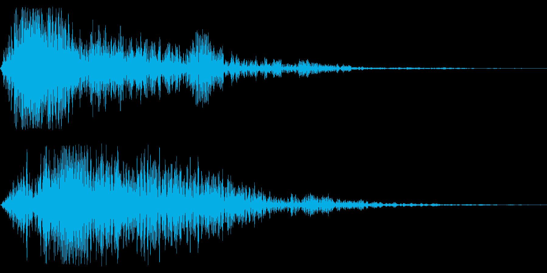 映画の予告で聞く迫力のある風切り音ですの再生済みの波形