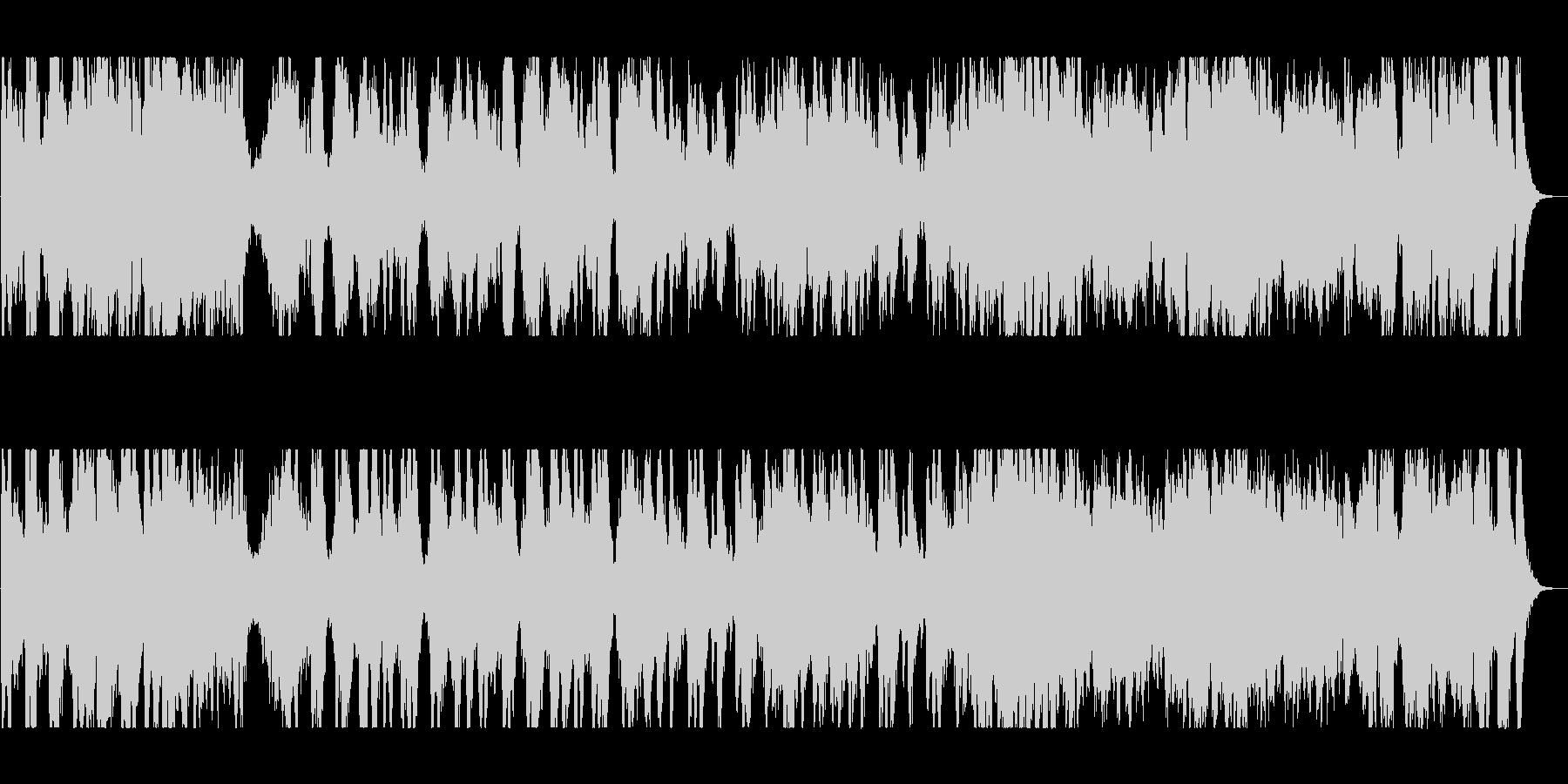 管楽器のメロディーが心地よい行進曲の未再生の波形