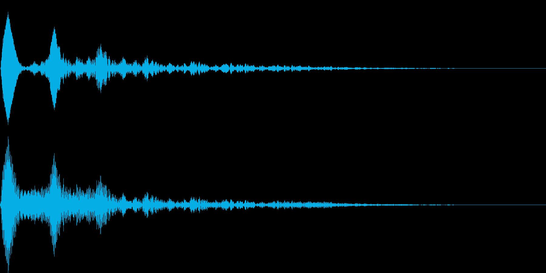 ワンポイント - 2 バブルの再生済みの波形