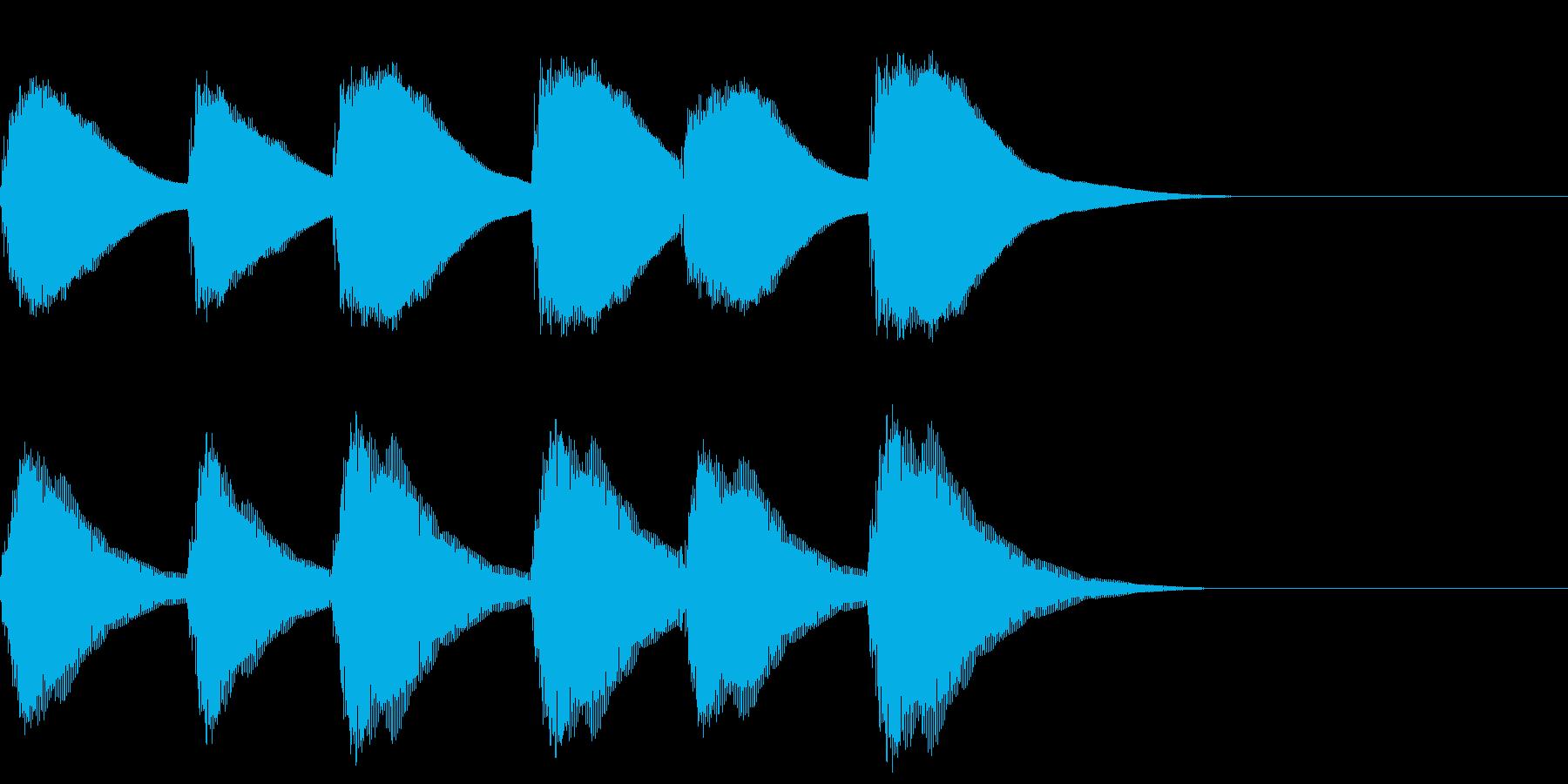 FX・SE/ピアノ/コール/アラームの再生済みの波形
