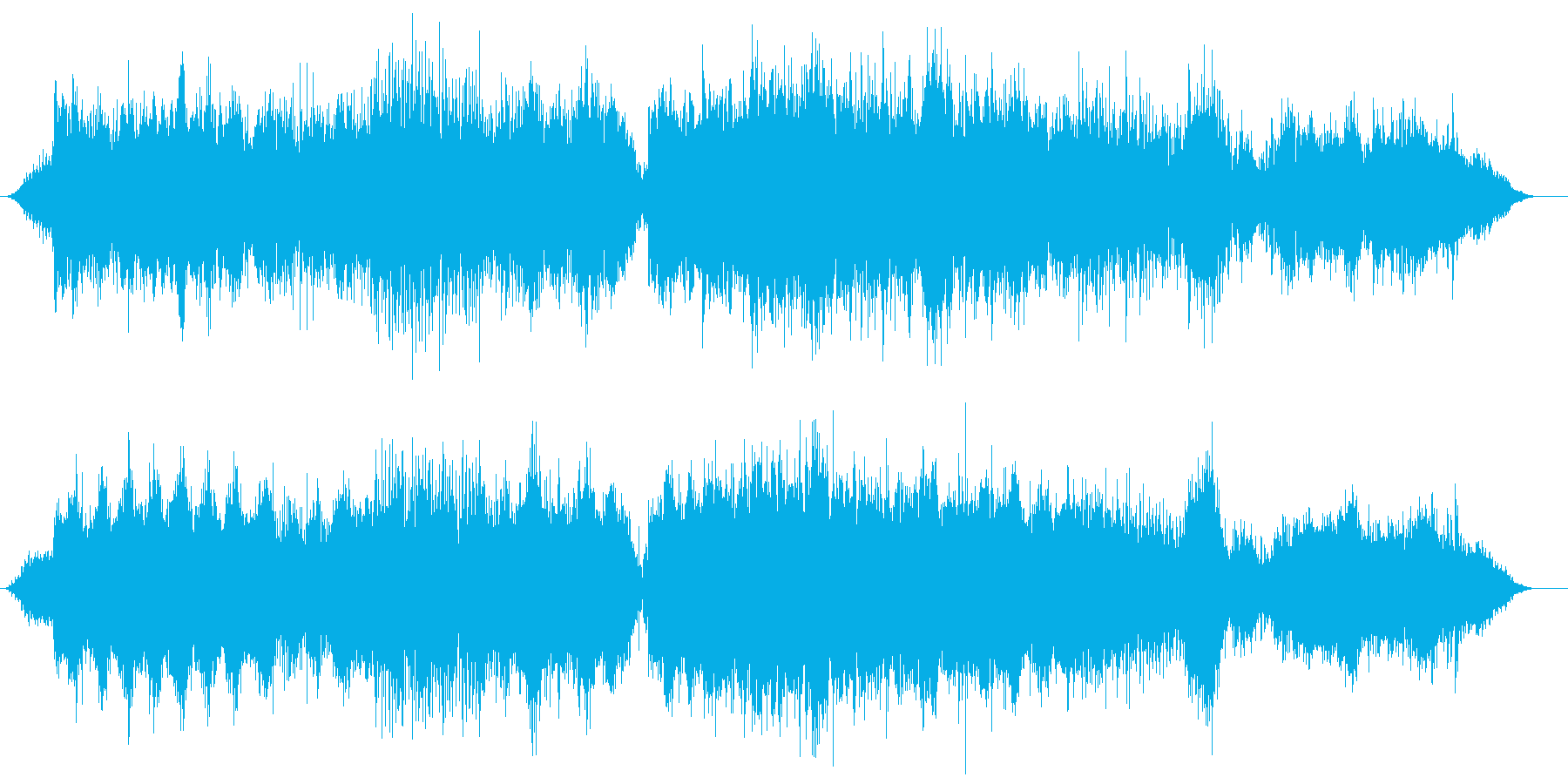 恐怖を表現したダークアンビエントの再生済みの波形