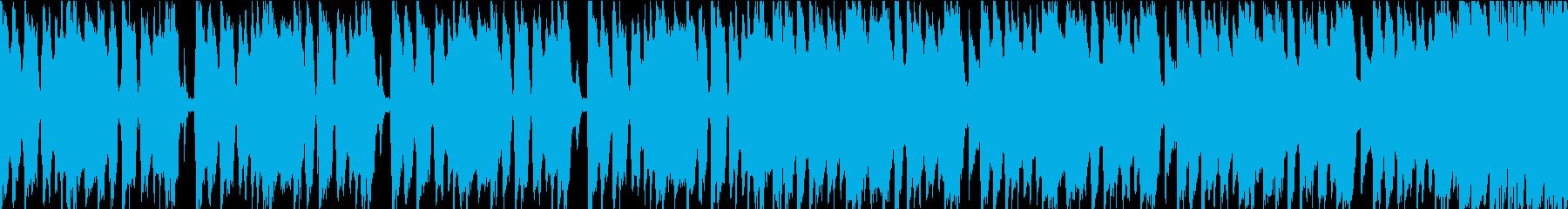尾行を撒くシーンにあうBGM_1の再生済みの波形