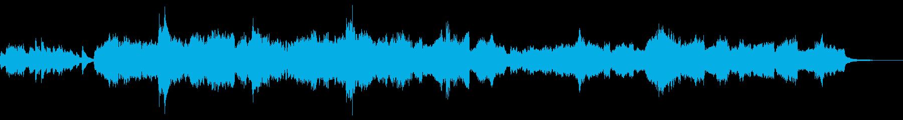 オーケストラによる日本的なメロディの再生済みの波形