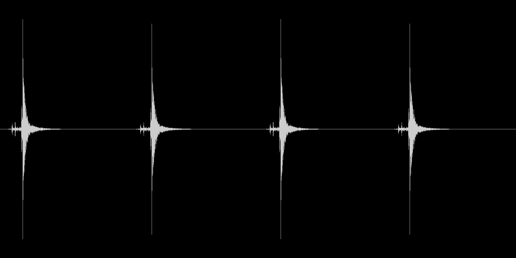 時計の秒針の音 1A 大きな時計の未再生の波形
