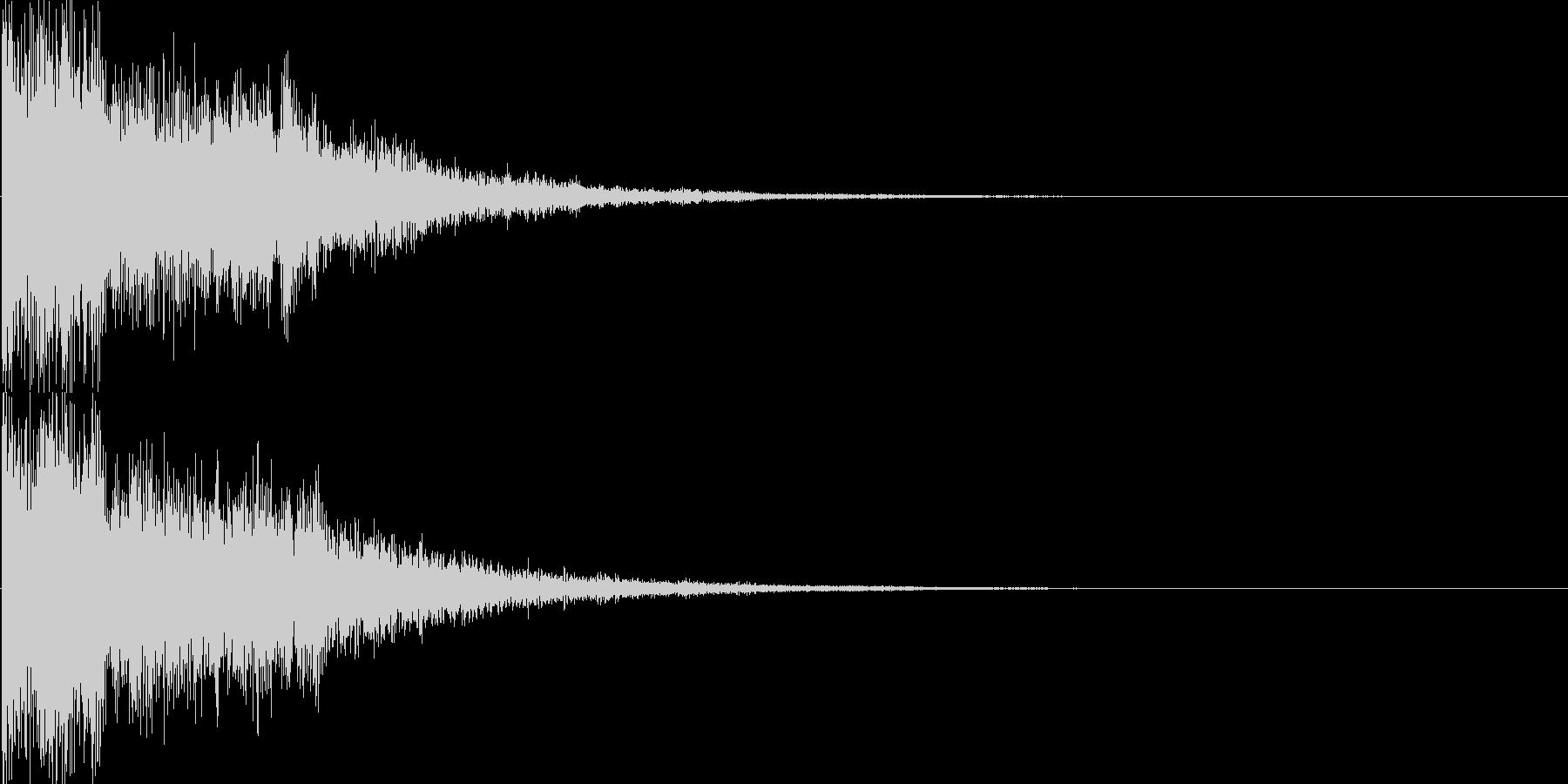 ピコーン(ゲーム、アプリ、決定音)の未再生の波形
