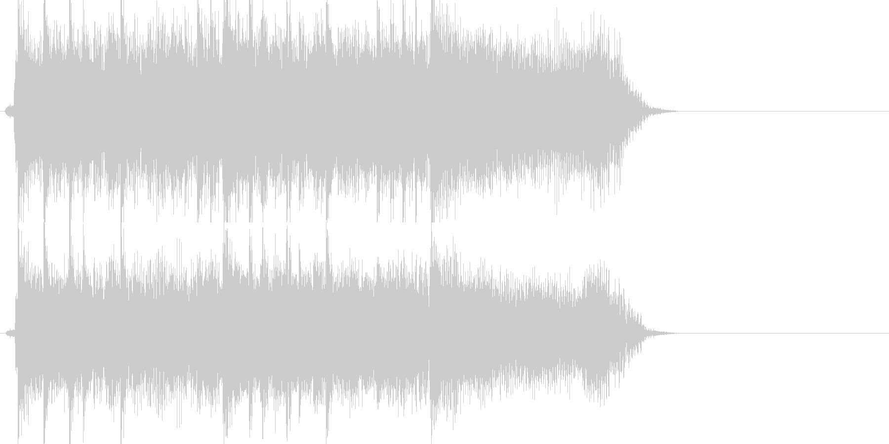 激しいギターロックジングルの未再生の波形