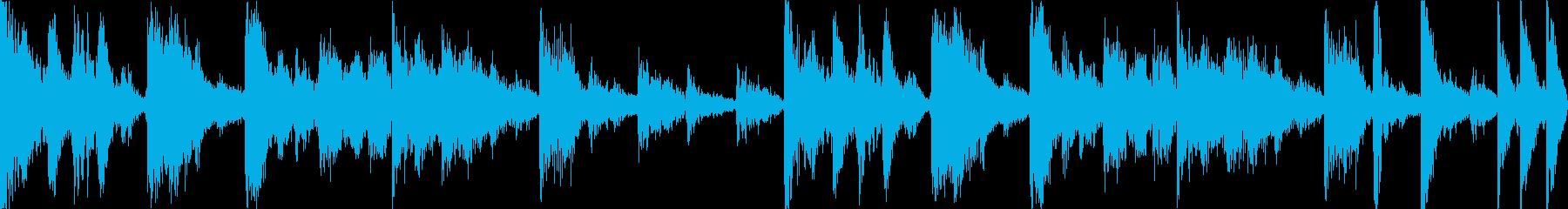 【ループD】ファンキーなブレイクビーツの再生済みの波形