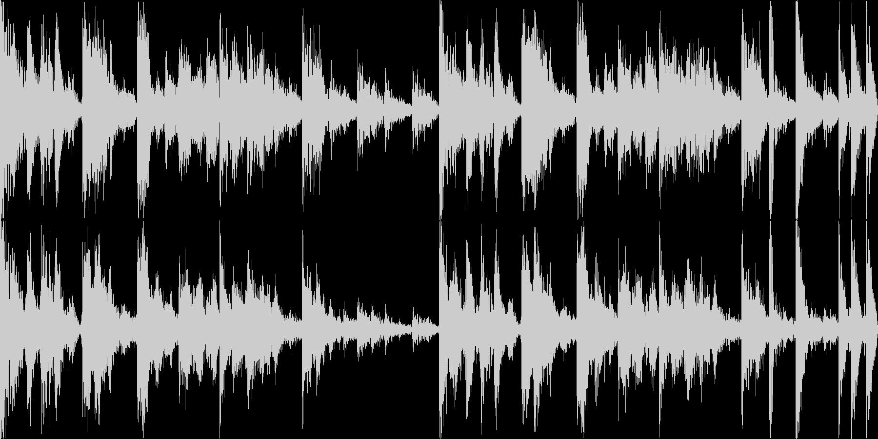 【ループD】ファンキーなブレイクビーツの未再生の波形