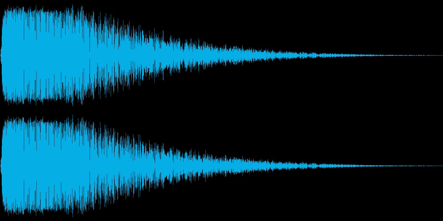 「転ぶ」「こける」コメディー系の効果音の再生済みの波形