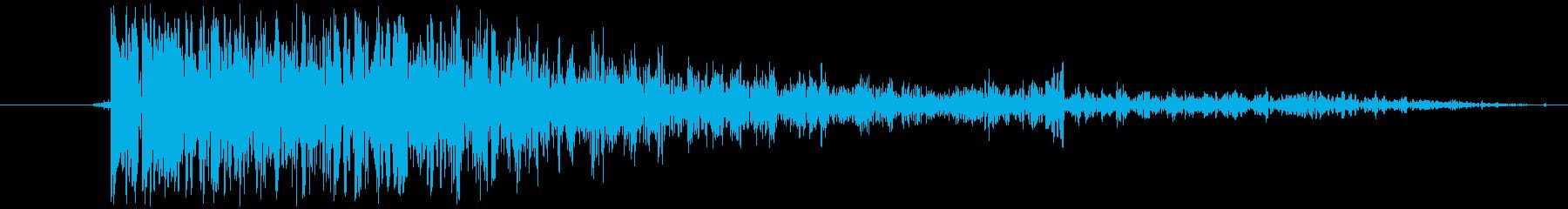 【銃/単発/バン/バーン/効果音】の再生済みの波形