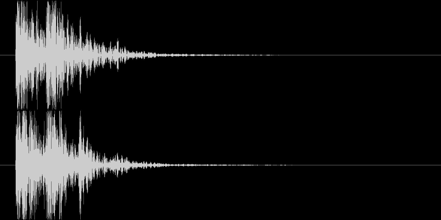 太鼓の音(低音)の未再生の波形