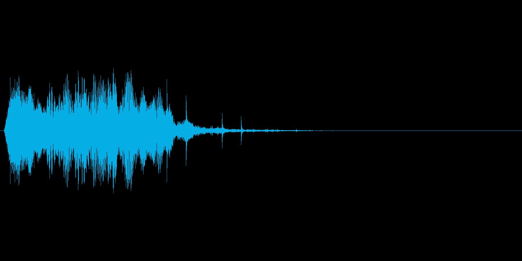 水系の魔法の詠唱→発動をイメージしたSEの再生済みの波形
