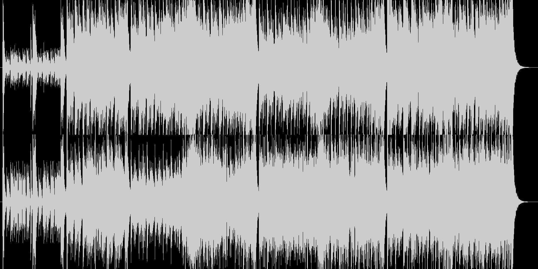 アコギとフルートが絡み合うアイリッシュ曲の未再生の波形