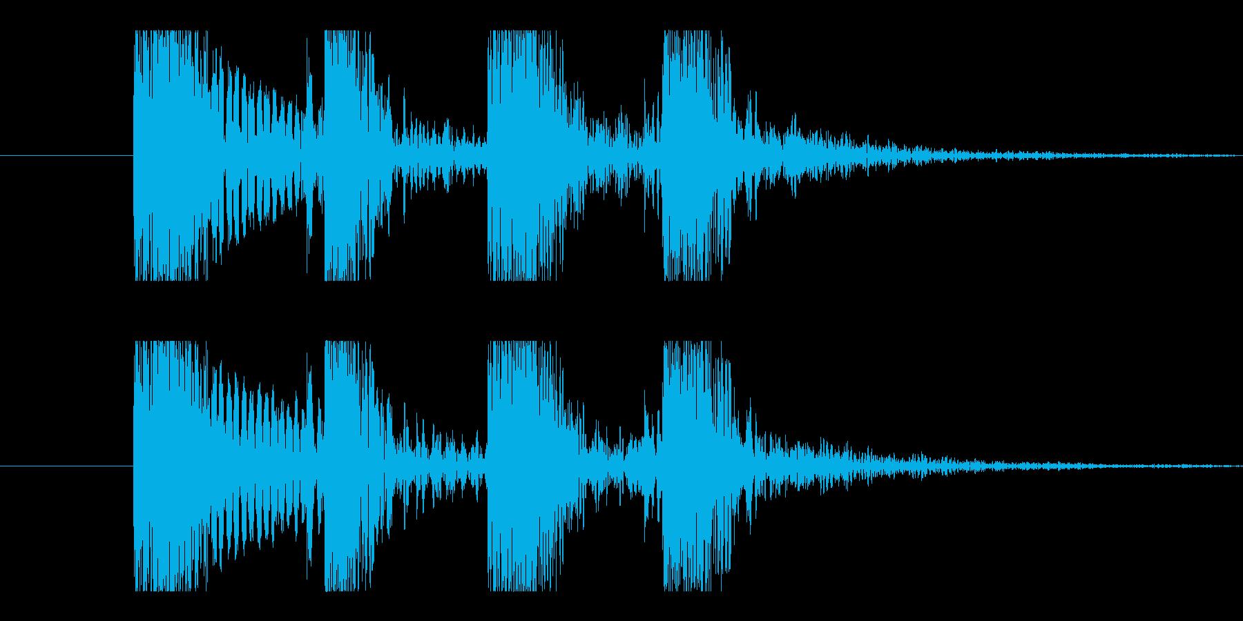 カカカカッ。Eギター、カッティング音の再生済みの波形