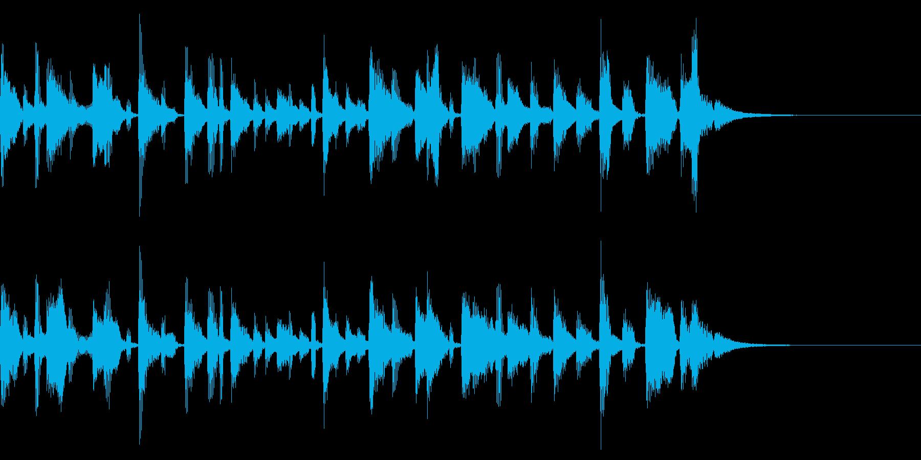 ラジオ シンプル ジングル の再生済みの波形