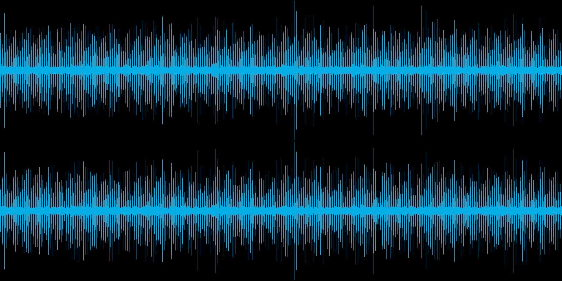 近未来的、メカニカルなシーケンスフレーズの再生済みの波形