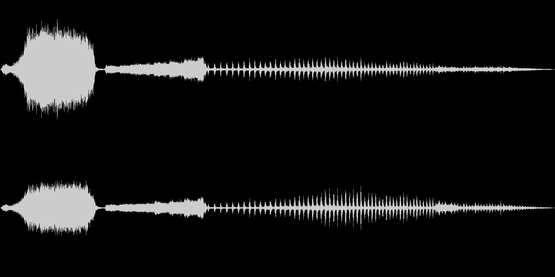 蒸気機関車の音の未再生の波形