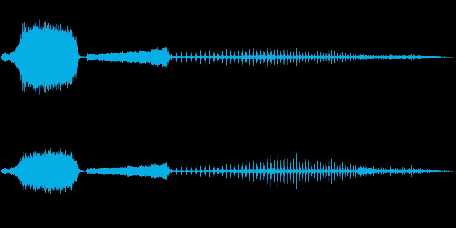 蒸気機関車の音の再生済みの波形