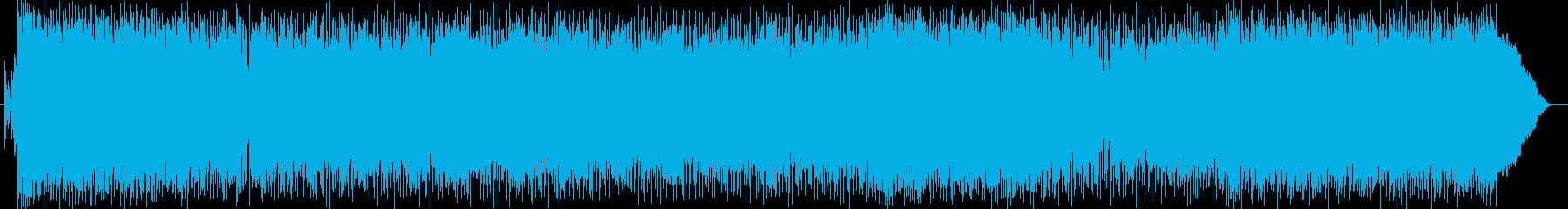 歌入りで軽快なアップテンポのロックの再生済みの波形