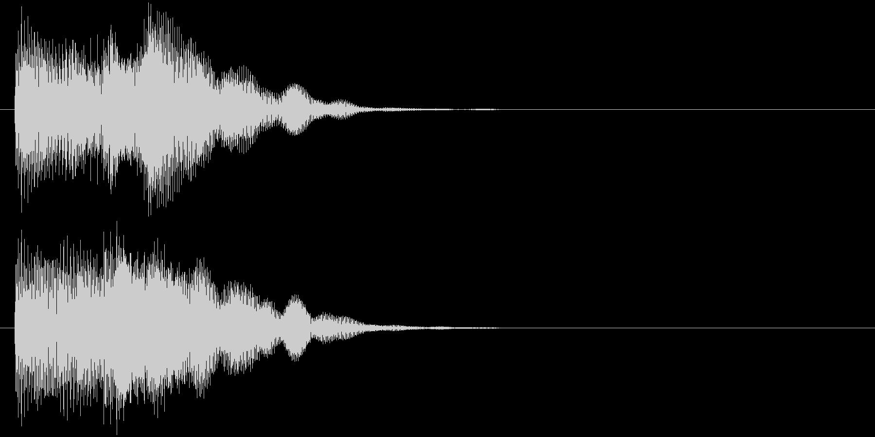 汎用 近未来系07(大) 決定音の未再生の波形
