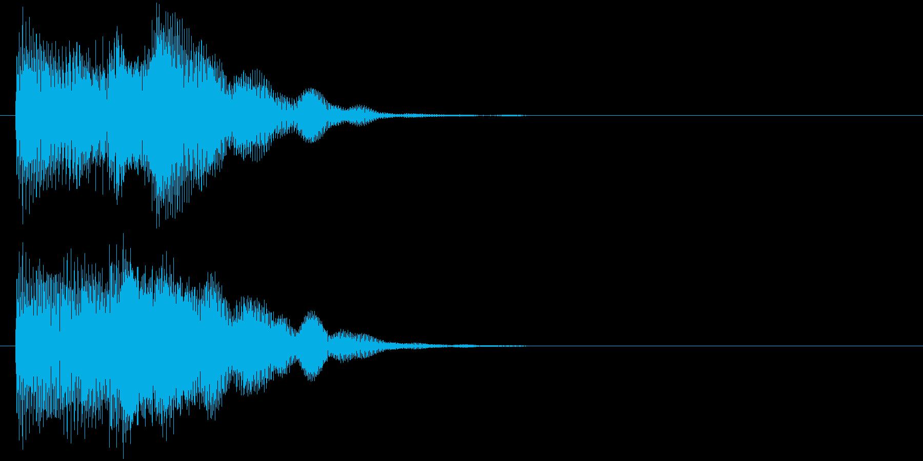 汎用 近未来系07(大) 決定音の再生済みの波形