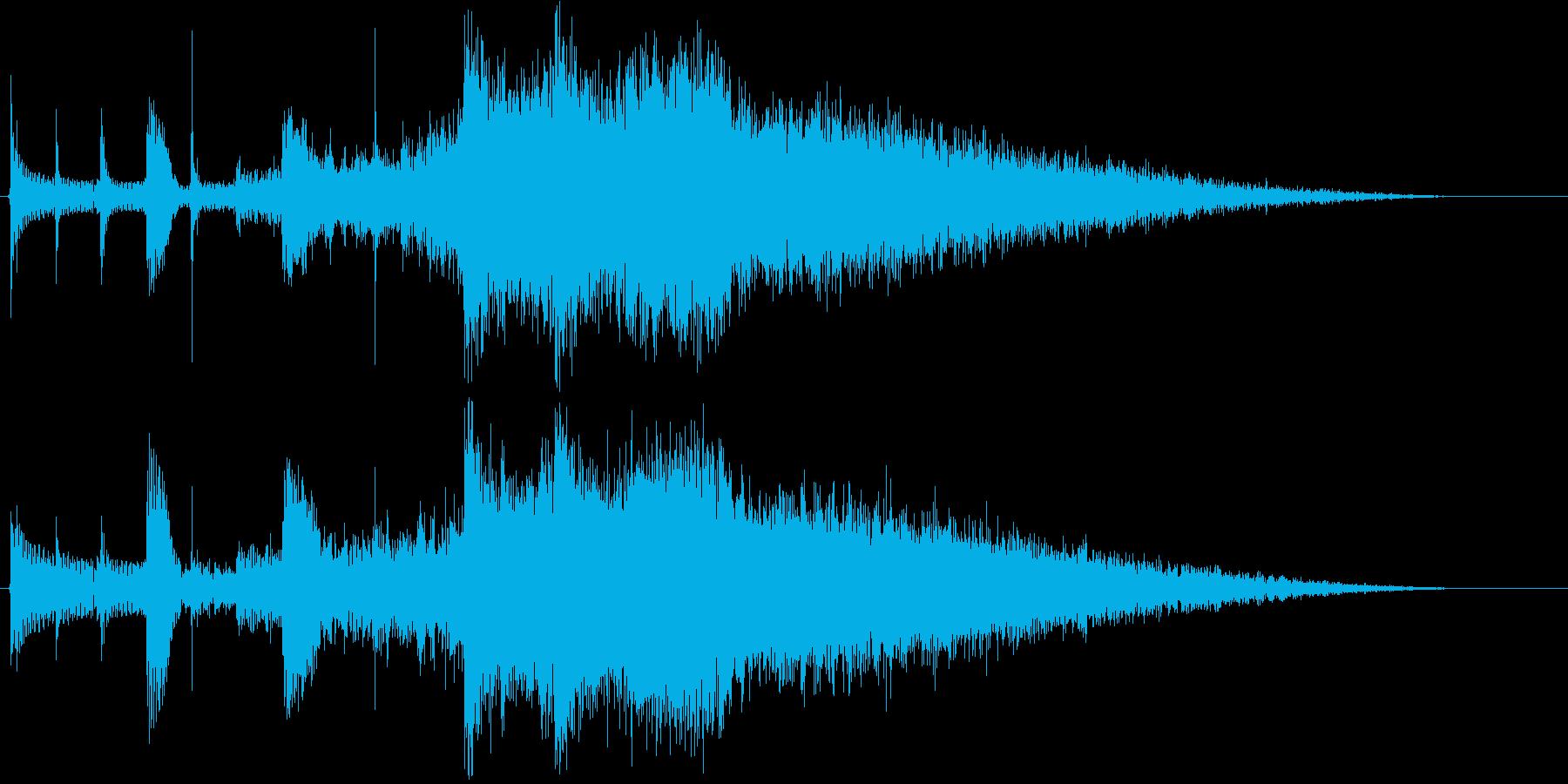 「パーン」企業ロゴ向けSE。 少しだけ…の再生済みの波形
