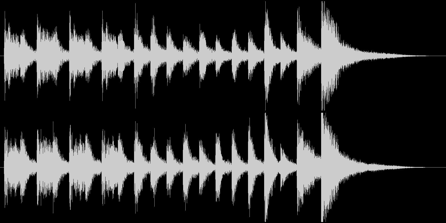 ポップなピアノトリオのサウンドロゴの未再生の波形