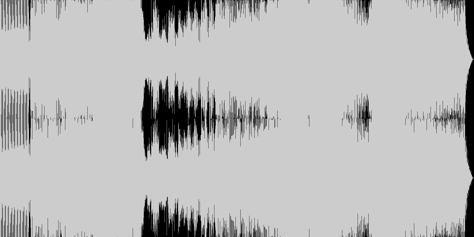 爽やかなプログレッシブハウスの未再生の波形