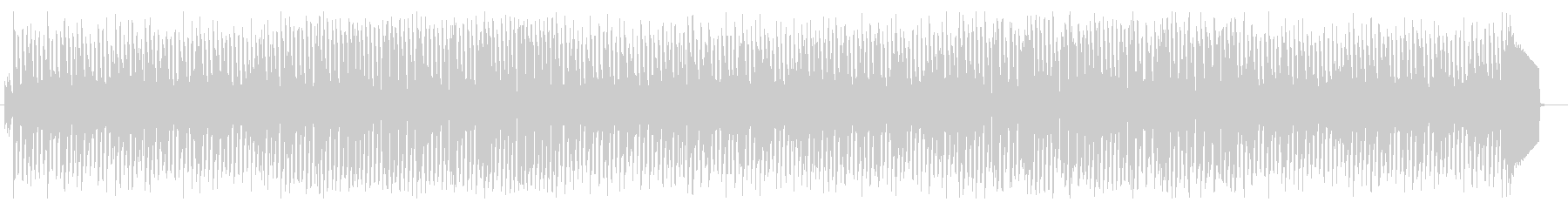畳みかけるようなリズムが緊張感をあおる曲の未再生の波形