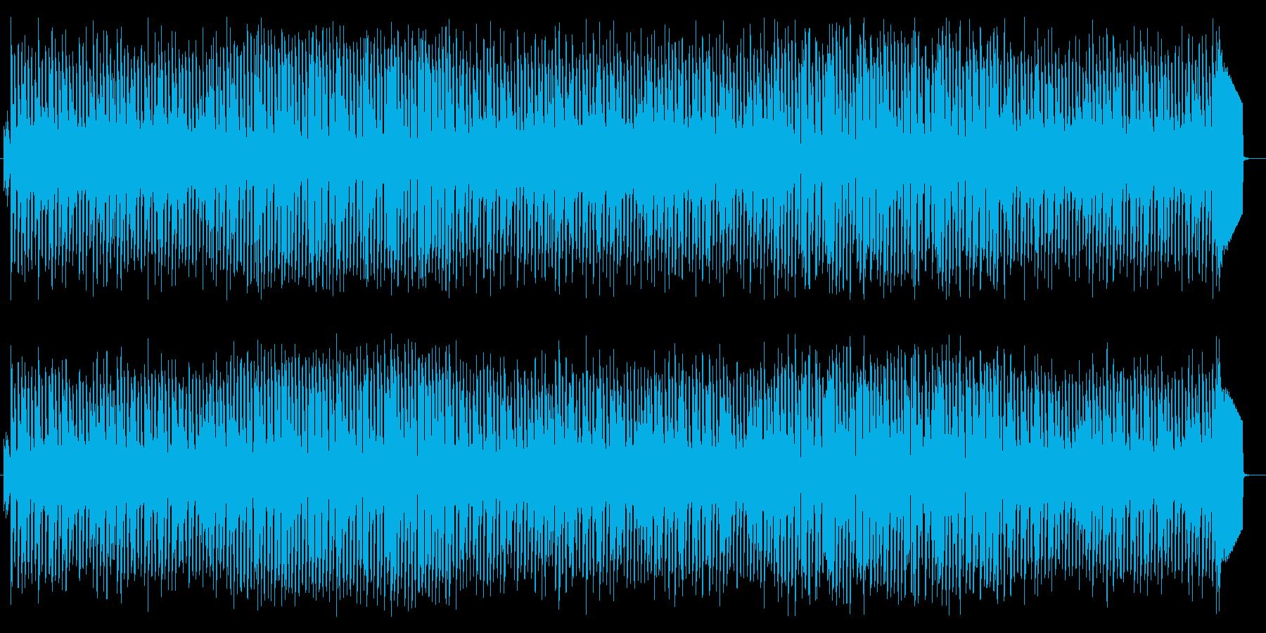 畳みかけるようなリズムが緊張感をあおる曲の再生済みの波形