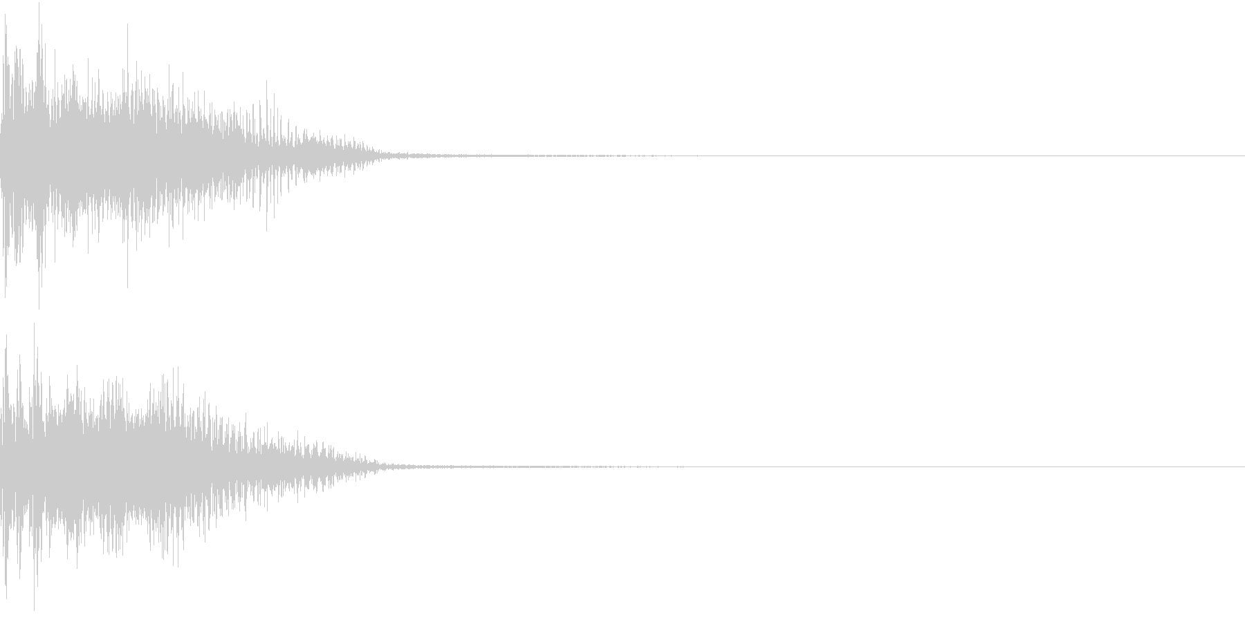 InvaderBuzz 発砲音 12の未再生の波形