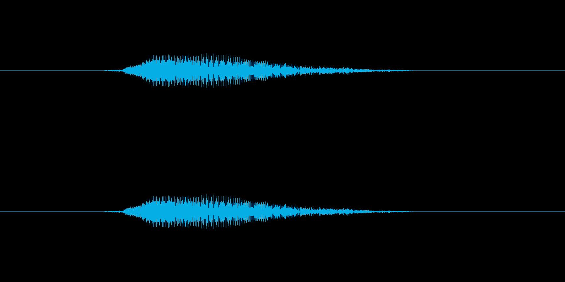 あ~らら~の再生済みの波形