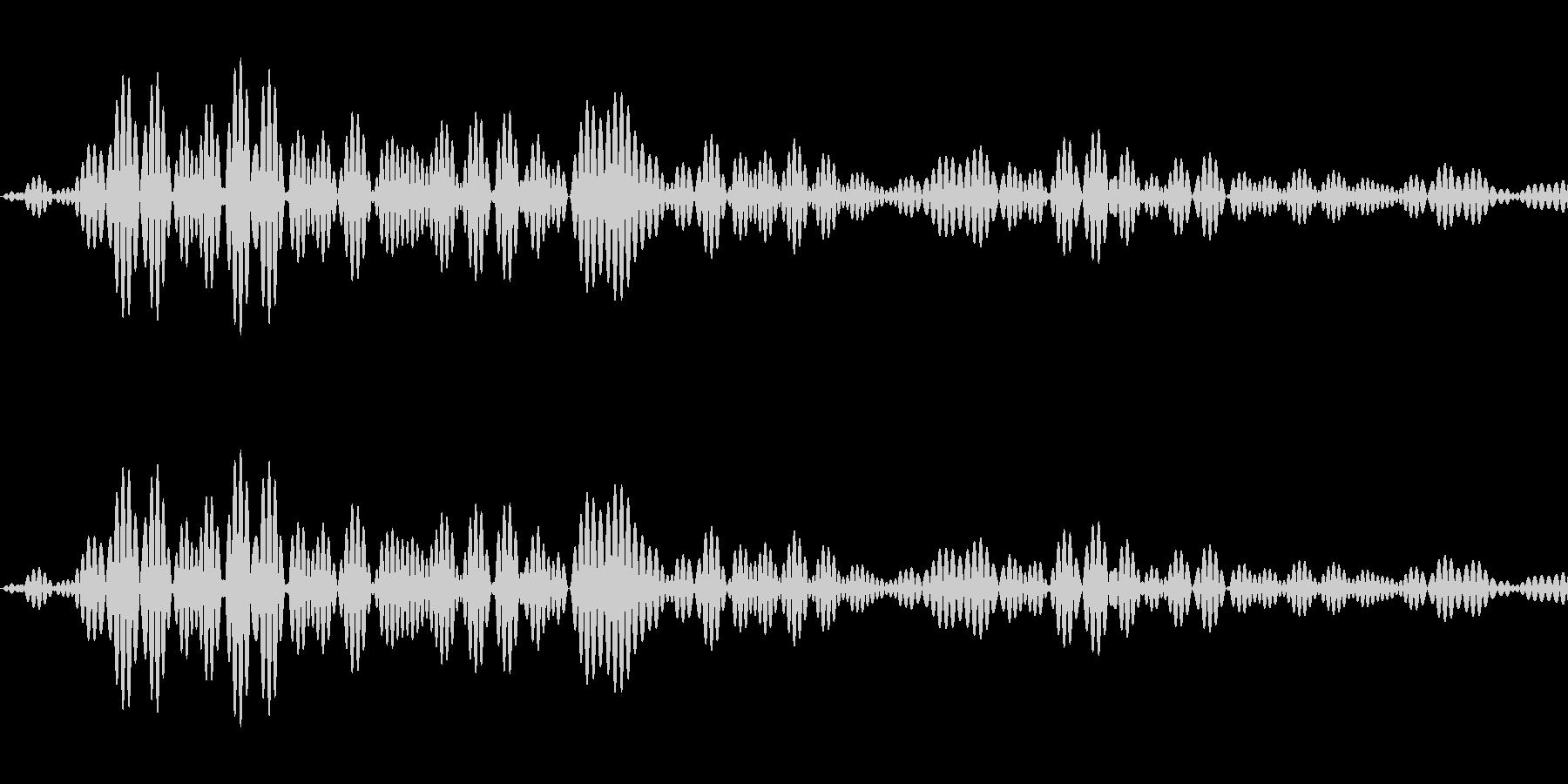 シンプルな決定音2の未再生の波形