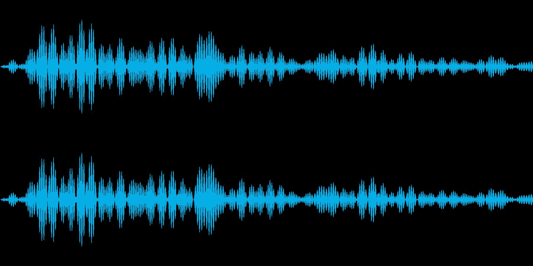 シンプルな決定音2の再生済みの波形
