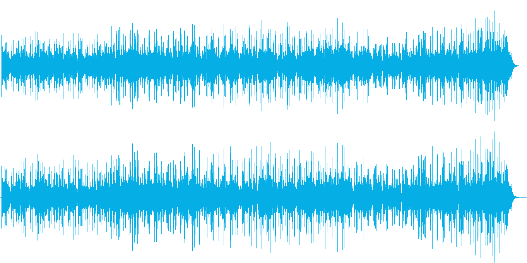 ドラマチックなポップスBGMの再生済みの波形