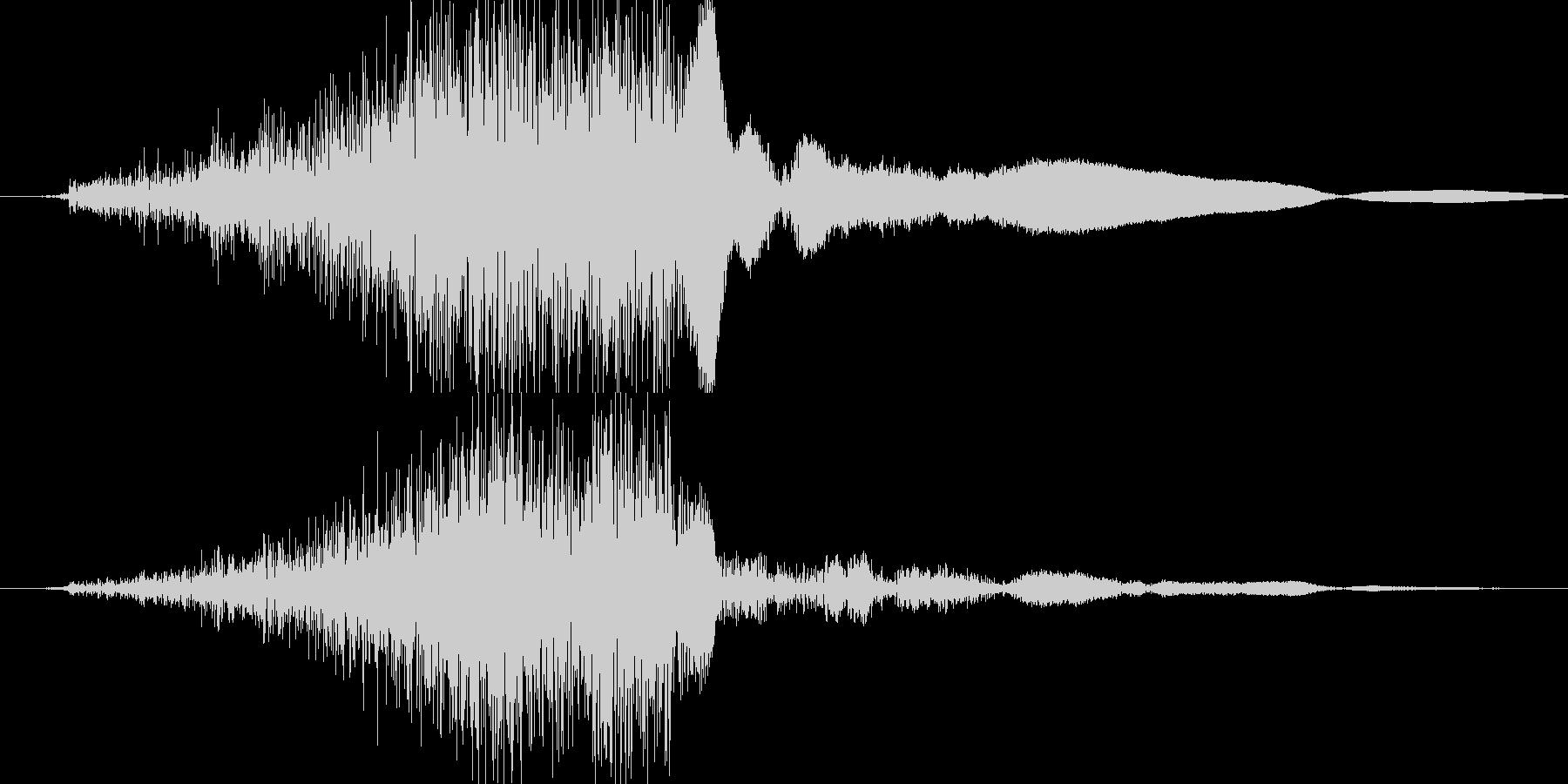 シュッ(金属系効果音)の未再生の波形