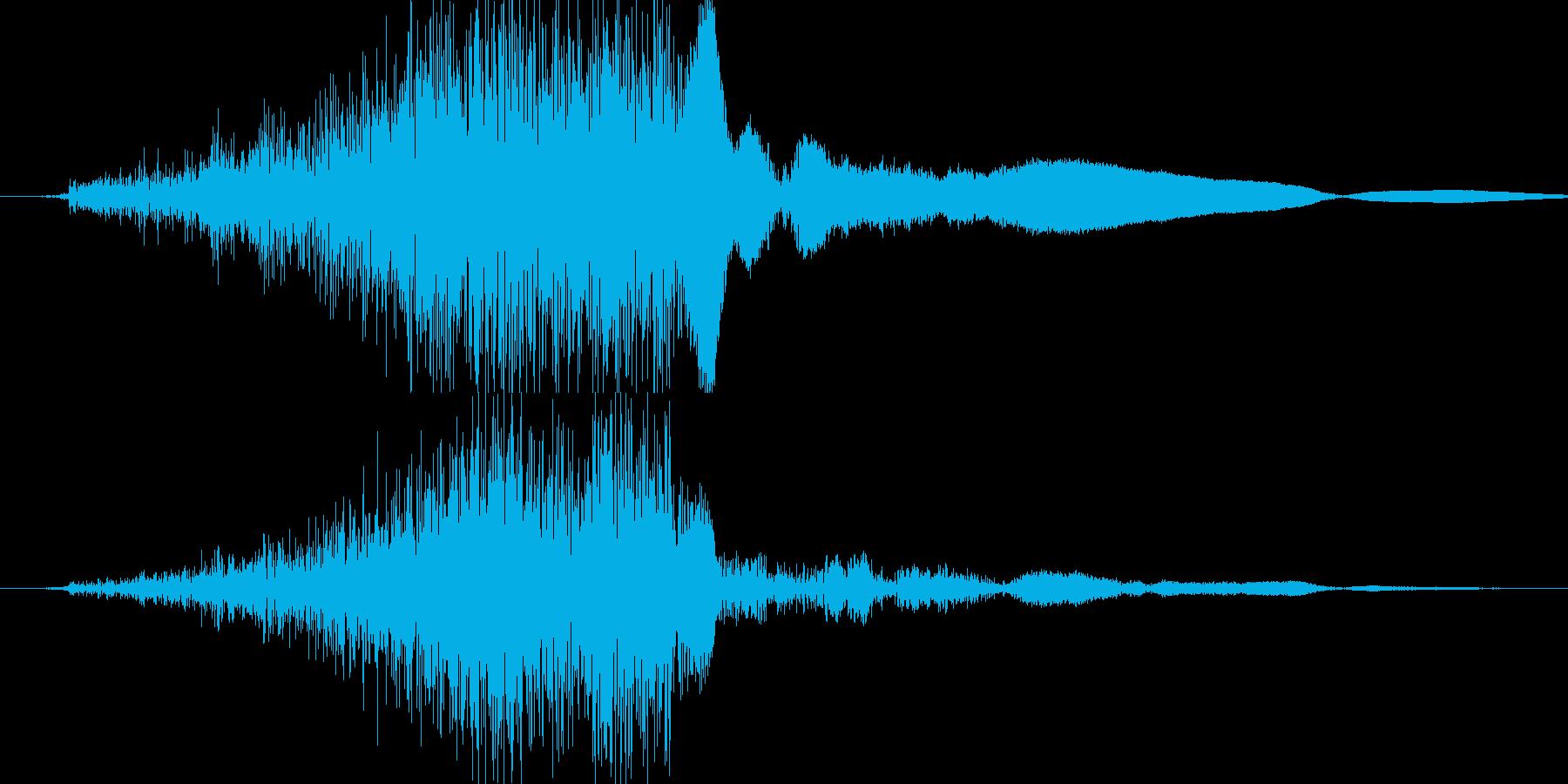 シュッ(金属系効果音)の再生済みの波形
