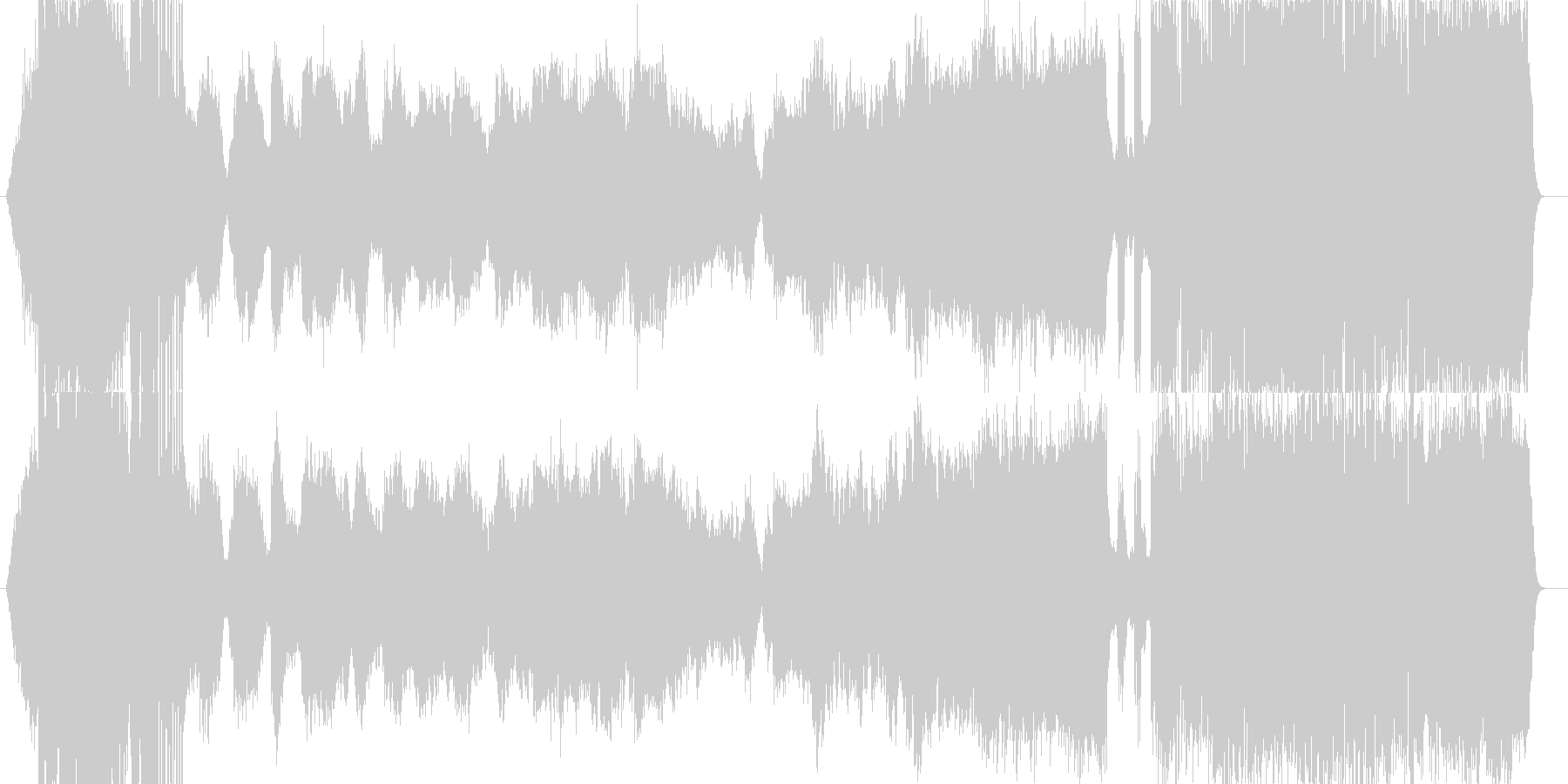 イメージ音からはじまりドラマチックな展開の未再生の波形