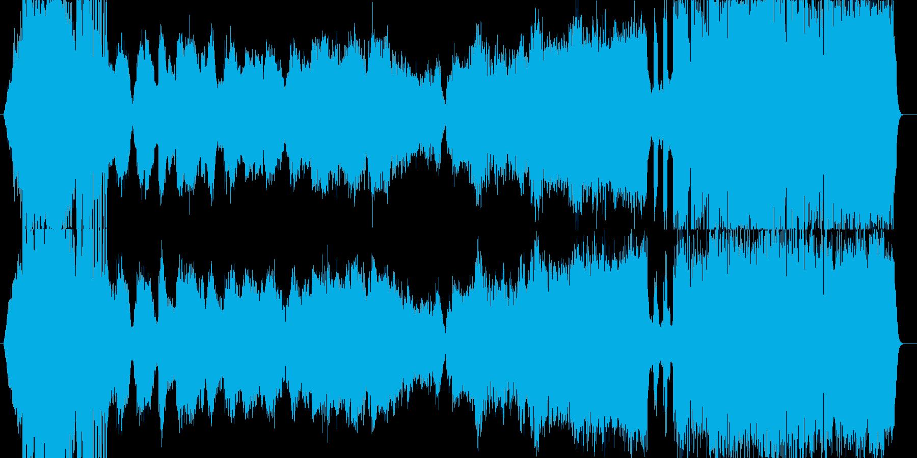 イメージ音からはじまりドラマチックな展開の再生済みの波形