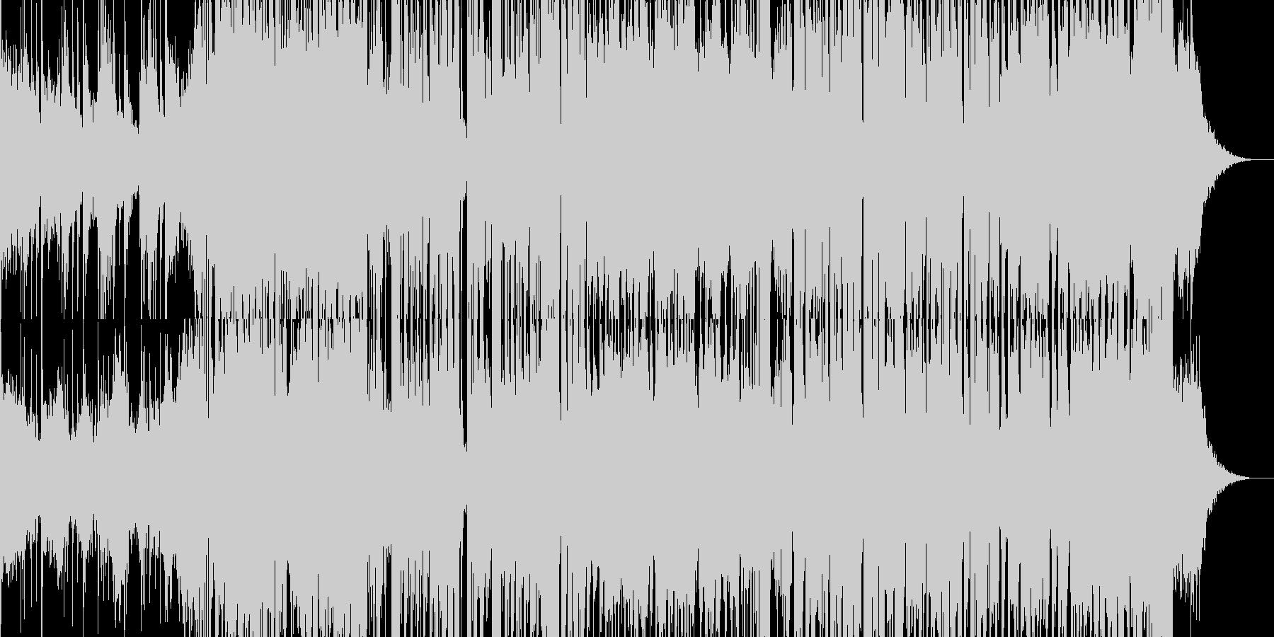 花火がテーマのエレクトロ|場面展開有りの未再生の波形