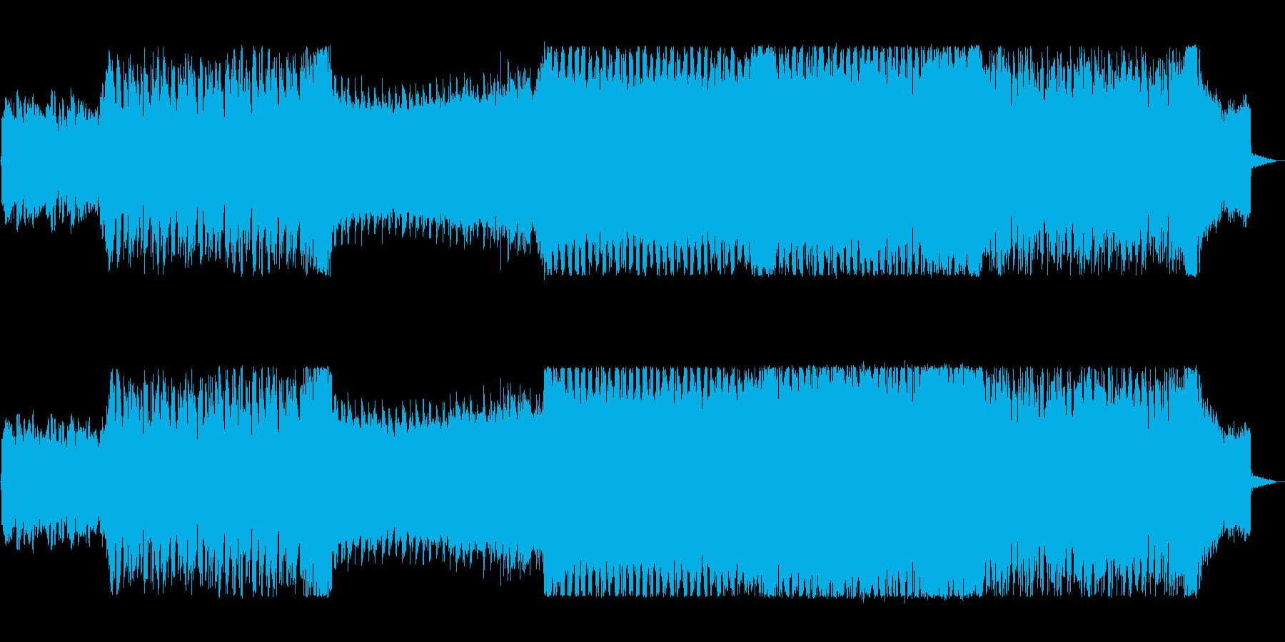 アップテンポで重厚感があるテクノの再生済みの波形