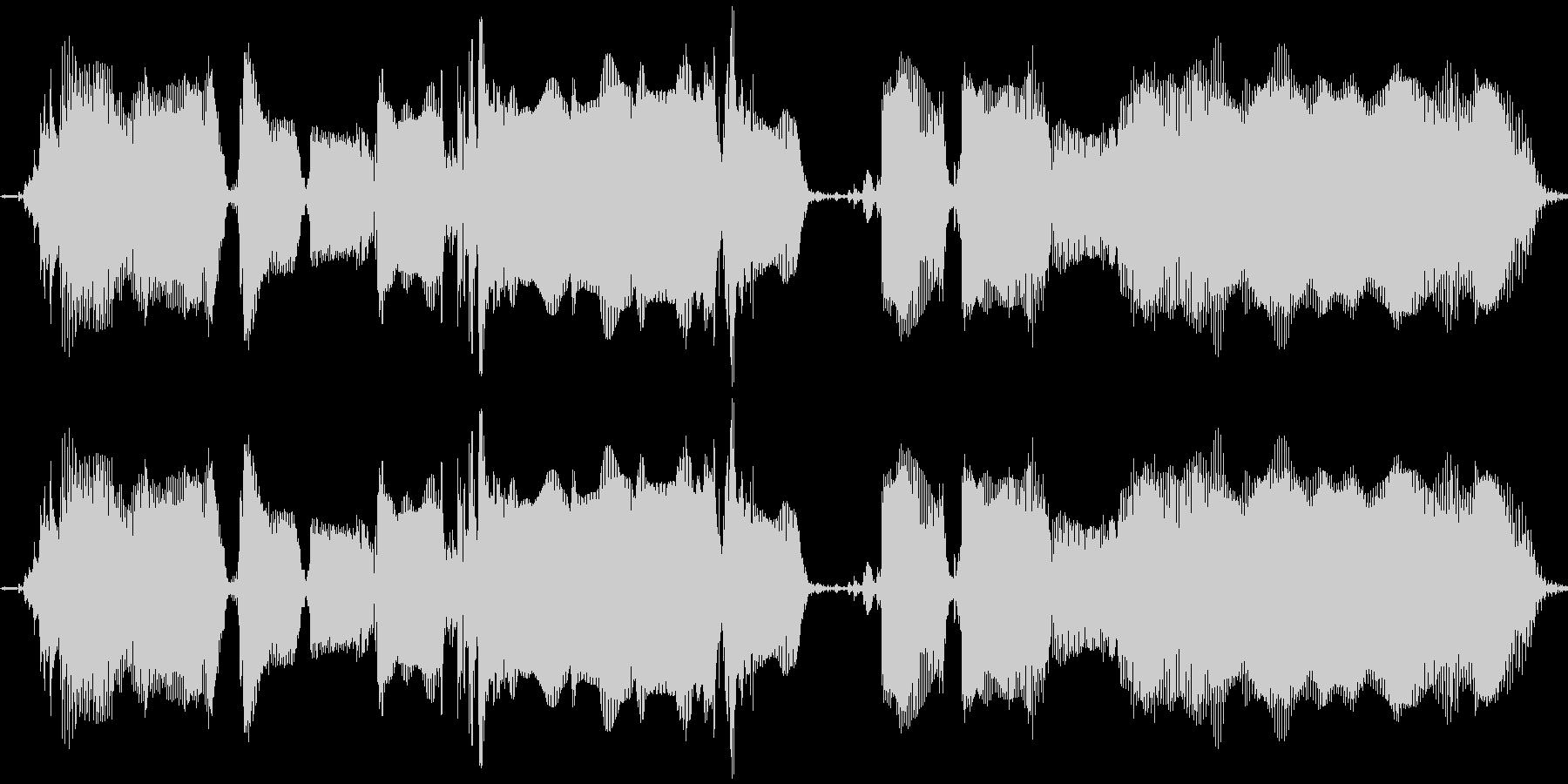 【エレキギター】ワ~クァクァクァクワ~の未再生の波形