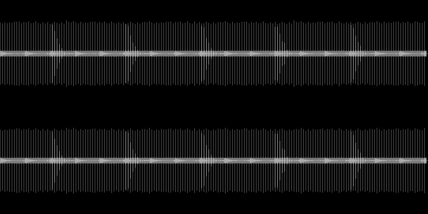 【懐中時計】カッチ・チ・チ・チ…の未再生の波形