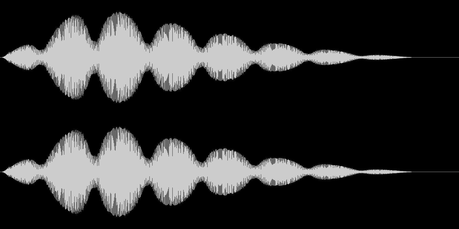 雲がふわふわと浮かぶような効果音の未再生の波形